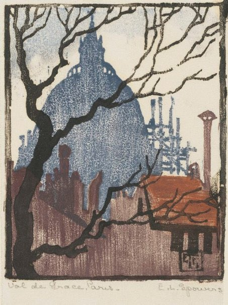 Ethel Spowers, Val de Grace, Paris, 1923