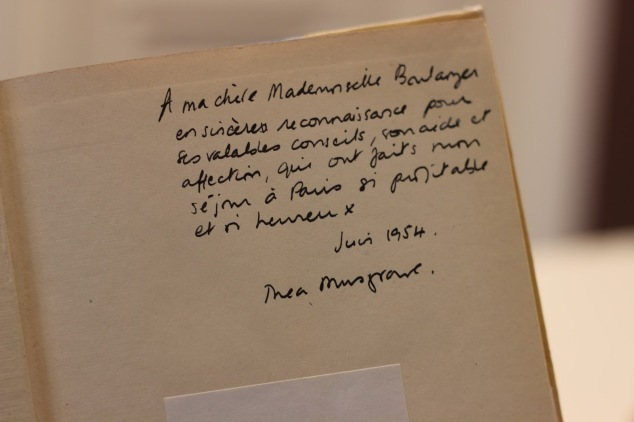 Thea Musgrave inscription