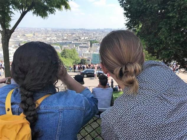 anna and lauren on montmartre